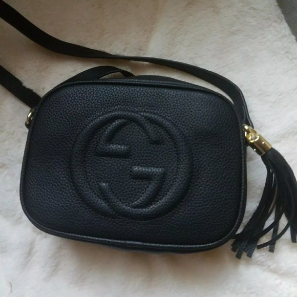 44324d01d0ad Gucci Bags | Black Leather Soho Disco Bag | Poshmark